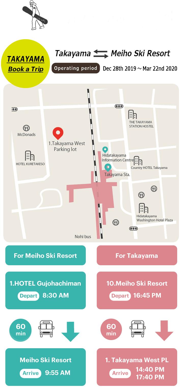 Takayama departure / arrival reservation system