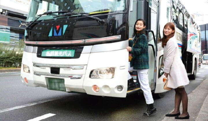 From Kyoto Station and Shin-Osaka Station, you can easily go by tour bus!